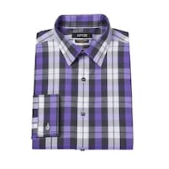 085a41a90 Men s Apt. 9 long sleeve dress shirt slim fit NWT